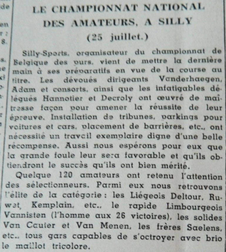1954 ch nat à Silly annonce